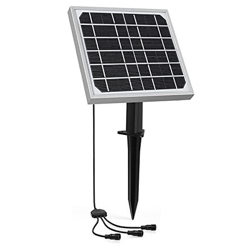 MEIKEE Panel Solar Fotovoltaico, 4000mAh lámpara de energía solar para exteriores, lámpara...