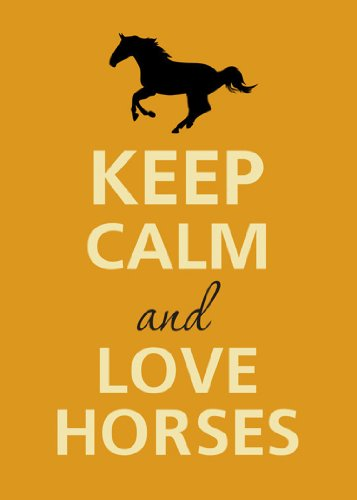 Rectangle Refrigerator Magnet - Keep Calm and Love Horses Galloping Silhouette