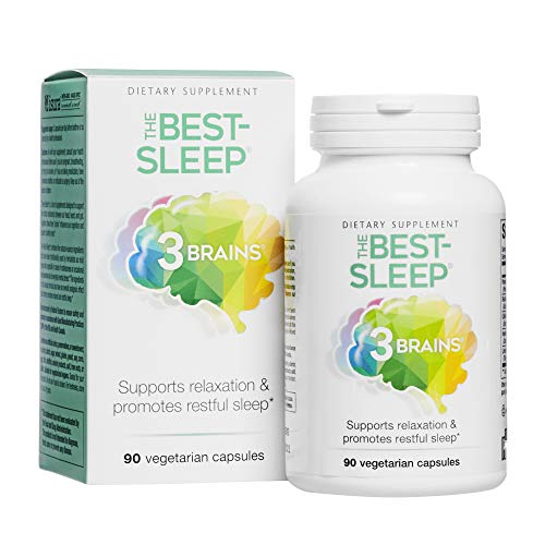 natural sleeps 3 Brains by Natural Factors, The Best-Sleep, Natural Sleep Aid to Support Relaxation & Restful Sleep, Vegan, 90 Capsules (45 Servings)