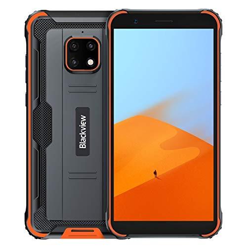 Blackview BV4900 Outdoor Smartphone Ohne Vertrag, IP68 Robust Handy Android 10, 3GB RAM 32GB ROM 256 GB Erweiterung, 5MP+8MP wasserdichte Kamera, NFC DUAL SIM, 5580mAh Akku Reverse Charge Orange