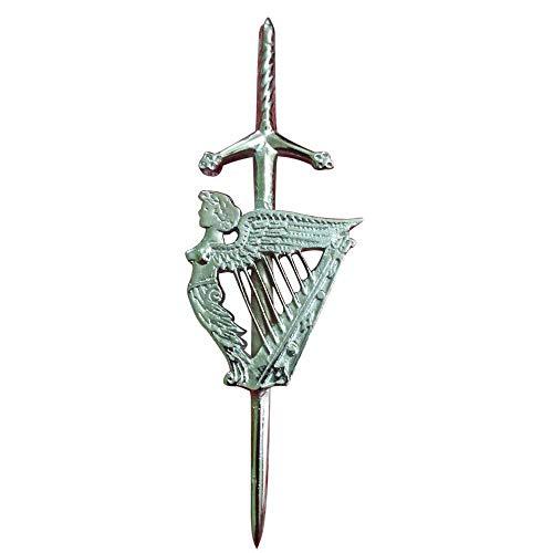 Anstecker/Pin, Schottisches Hochland/Irische Harfe, keltisches Motiv, hochwertig