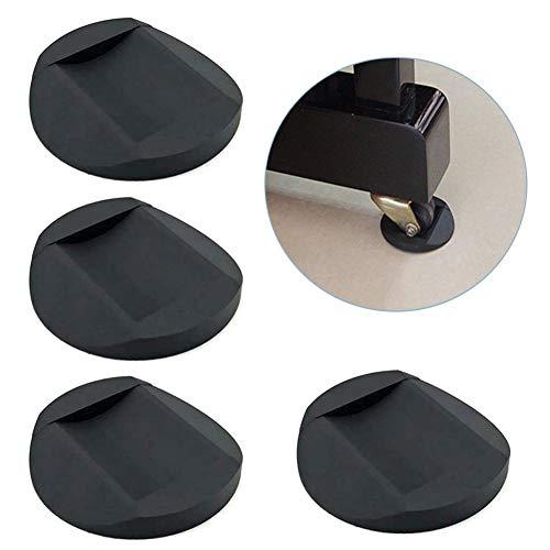 4 piezas de tazas de ruedas para muebles, posavasos de goma anti-deslizantes protectores de pies protectores de piso de cama, sofá silla, rueda de pierna antideslizante