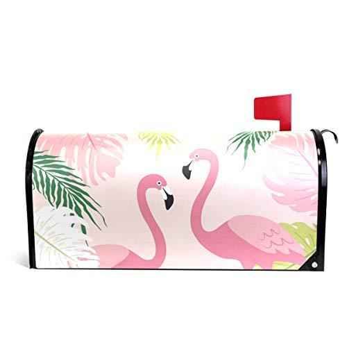 senya Home Garden Cute Tropical Flamingos Pattern Magnetic Mailbox Cover Standard