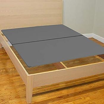Spinal Solution Wood Split Bunkie Board/Slats,Mattress Bed Support,Fits Standard Twin Grey