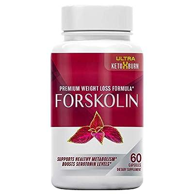Ultra Keto x Burn Forskolin, Premium Weight Loss Formula, Support Healthy Metabolism, Boosts Serotonin Levels