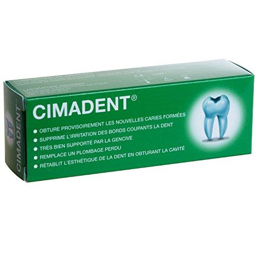 PANSEMENT DENTAIRE CIMADENT pour boucher une carie ou une obturation perdue .Excellent pansement provisoire en attendant le dentiste.30 applications
