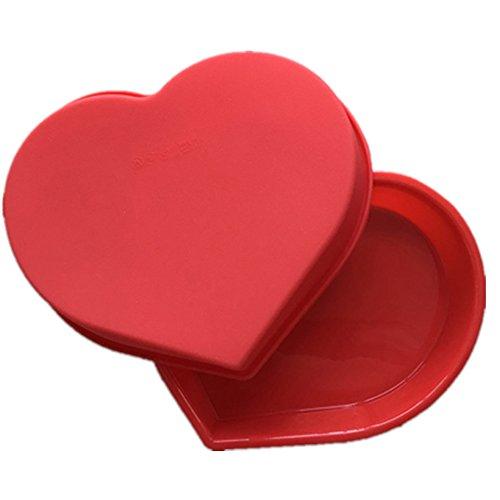Moule en silicone de moule de moule de gâteau de grande forme de coeur pour le moule d'Ustensiles de cuisson de chocolat de sucrerie
