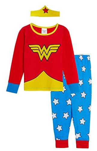 DC Comics Pijama niñas con diseño de Wonder Woman Rosso 4-