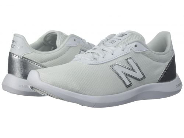 New Balance(ニューバランス) レディース 女性用 シューズ 靴 スニーカー 運動靴 514v1 - White/Metallic Silver 5 D - Wide [並行輸入品]