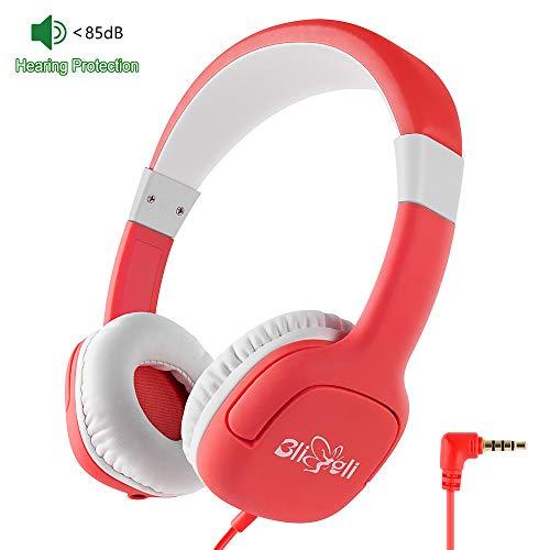 BliGli Kids Kopfhörer | 85dB Lautstärkeregler Verwickelungsfreier 3,5 mm Klinkenstecker Kabel-On-Ear-Kopfhörer für Kinder/Jugendliche/Mädchen | BPA-freies, lebensmittelechtes Material Langlebig