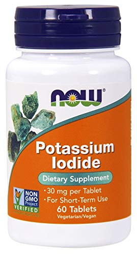 NOW Foods Yoduro De Potasio, 30 Mg 60 Unidades 40 g
