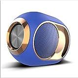 ZJW Bluetooth Speaker Wireless Bluetooth Speaker Outdoor Card Small Speaker Heavy Bass Golden Egg Speaker, Blue