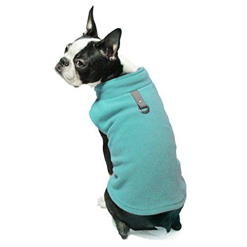 Gooby - Fleece Vest, Small Dog Pullover Fleece Jacket with Leash Ring, Turquoise, Medium
