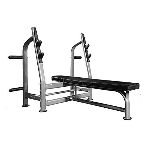Squat Rack Bankdrücken Kommerzielle Fitnessgeräte Haushaltsglocke Bank Hantel Bank Gewichtsverlust Fitness (Color : Black, Size : 142 * 118 * 120cm)