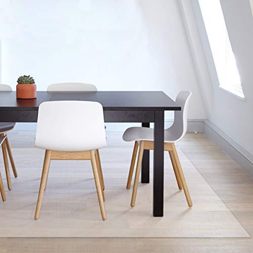 EGROON PVC製 透明 チェアマット 長方形 正方形 キッチンマット クリアマット マット 床保護マット 厚さ1mm 多機能 撥水 汚れ防止 60*120CM
