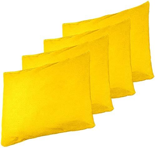 Backyard Champs 16oz Yellow Authentic Cornhole 4pk Bean Bag Set