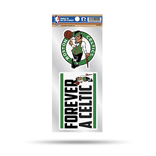 NBA Boston Celtics Double Up Die Cut 2-Piece Sticker Sheet