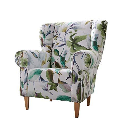 lifestyle4living Ohrensessel mit Blumenmuster | Der perfekte Sessel für entspannte, Lange Fernseh- und Leseabende. Abschalten und genießen!