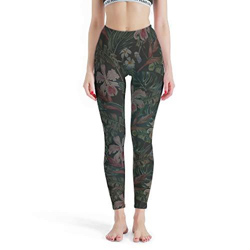 Dofeely Dames Flower Mandela Theme Yoga Loopbroek Opaque Elastische Tights Leggings Basketball Streetwear Muay Thai Flower Mandela