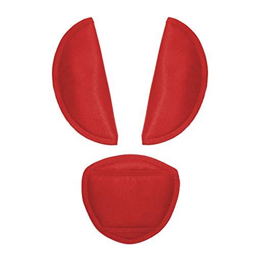 Aveanit Kinderwagengürtel-Abdeckung für Babyschale, universell, passend für die meisten Buggy-Gurtpolster (rot)
