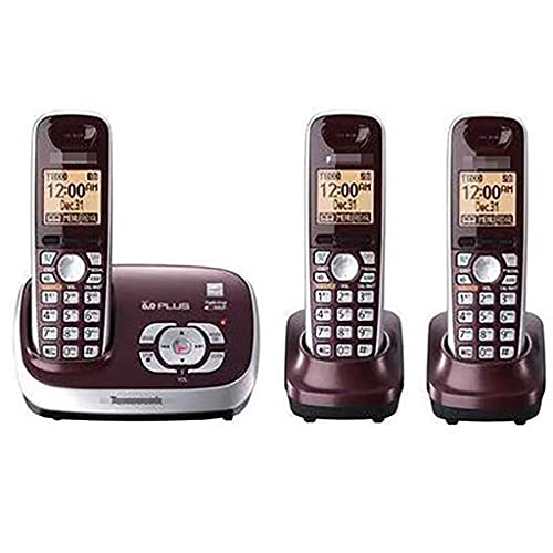 Teléfono residencial inalámbrico DECT de botón Grande, Llamada tripartita, configuración de Idioma inglés/español, Modo Eco, hasta 6 Auriculares (Color: B)