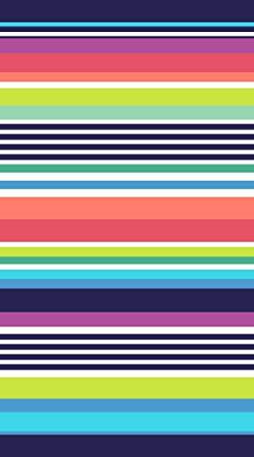 Lashuma Miami - Toalla de playa (terciopelo, 100 x 180 cm), diseño de rayas, color rojo, verde, azul y blanco
