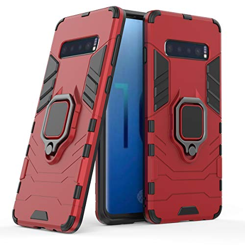 Cocomii Black Panther Ring Galaxy S10e Case, Slim Thin Matte Vertical & Horizontal Kickstand Ring Grip Reinforced Drop Protection Fashion Bumper Cover Compatible with Samsung Galaxy S10e (Red)