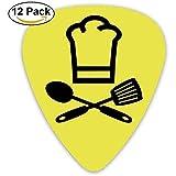 Púas de guitarra de celuloide púas de bajo, tapa de cocina y gorro de cocinero