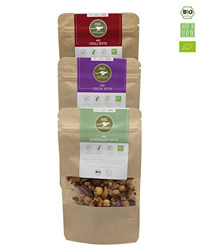 eat Performance® Variety Nuss Mix Box (3x 45g) - Bio, Paleo Snack, Nussmischung Geröstet