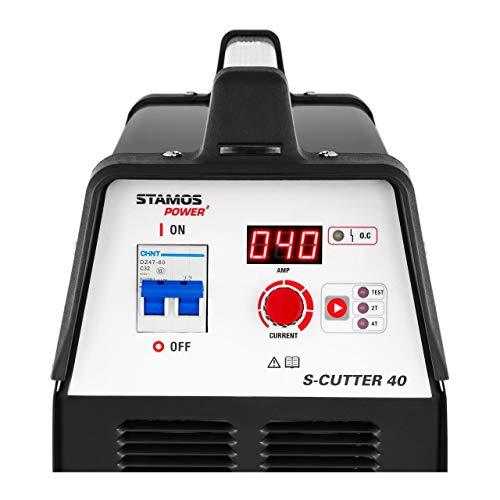 Stamos Welding Plasmaschneider Plasmaschneidgerät Schweißgerät S-CUTTER 40 (14-40 A, 230 V, Einschaltdauer 60%, Schneidleistung bis 12 mm, digitale Schneidstromanzeige, 2T/4T) - 6