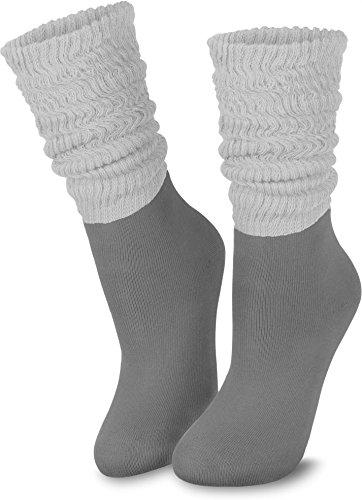normani 3 Paar Casual Couch Wellness und Workout Slouch Homewear Socken für Damen Farbe Grau Größe 35/38