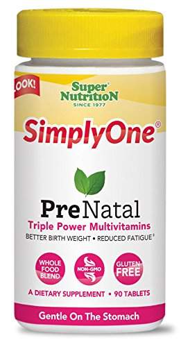 SuperNutrition, SimplyOne Multi-Vitamin for PreNatal, One/Day Tablets, 90 Day Supply