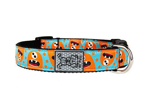 RC Pets 1 Inch Adjustable Clip Dog Collar, Medium, Hangry Monster