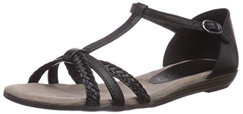 Tamaris 28137 dames T-spangen sandalen met wighak
