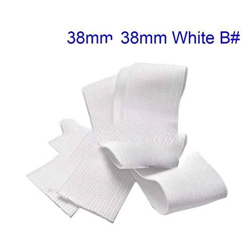 1 meter 3 mm ~ 50 mm zwart/wit naaien elastische band singels spandex voor sportkleding kleding broek riem naaien accessoires, 38 mm wit