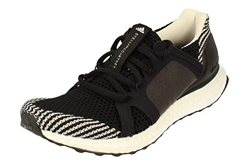 adidas Stella McCartney Ultraboost S Womens Running Trainers (UK 4 US 5.5 EU 36 2/3, Black White Granite F35901)