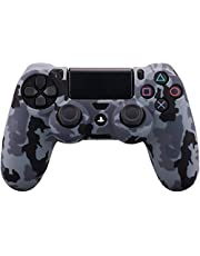 Hitatech Silicone Cover Skin for Sony DUALSHOCK 4 Controller with Pro Thumb Grips(x8), Camouflage