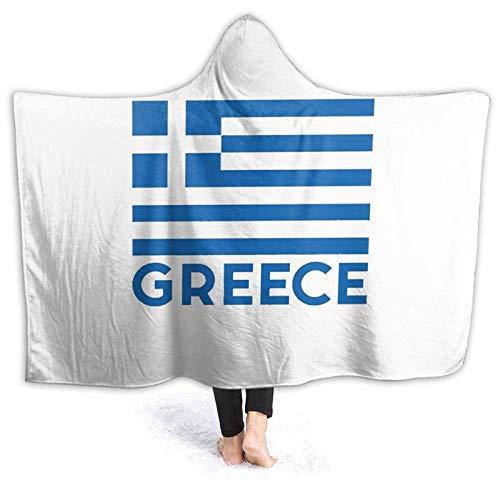 XCNGG Manta con Capucha Hooded Blanket Throw Greece Super Soft Sherpa Fleece Blanket Hood Poncho Cloak Cape