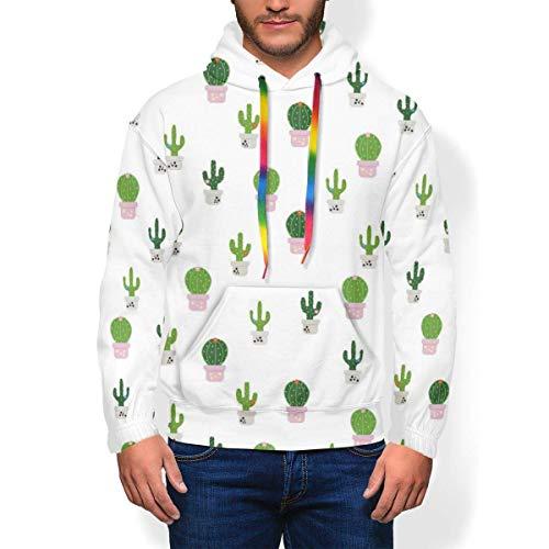 Longing-Summer - Sudadera con capucha para hombre, diseño de cactus