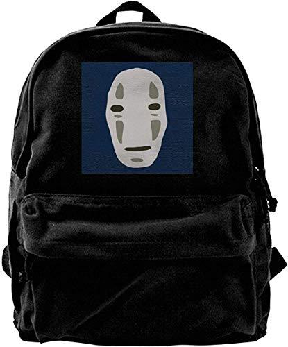 Homebe Mochila antirrobo Impermeable,Canvas Backpack No Face Spirited Away Studio Ghibli Rucksack Gym Hiking Laptop Shoulder Bag Daypack for Men Women