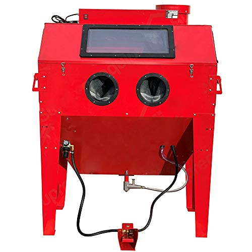Cheapest Price! Thaweesuk Shop New Red Air Sandblaster Cabinet 50-25PSI Sand Blasting 110 Gallon w F...
