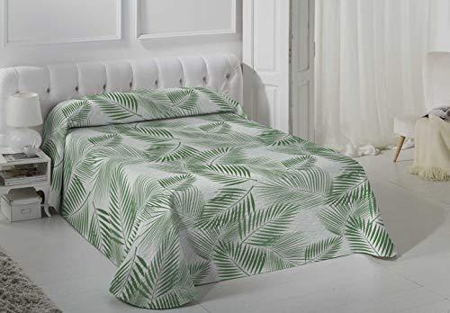 VIALMAN Colcha Bouti Ligero, Verde, 90x190 cm