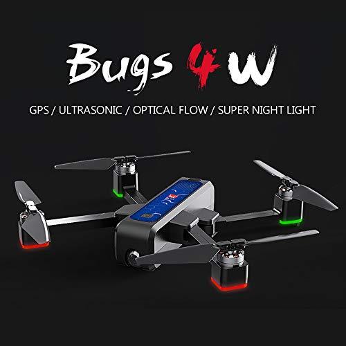 Walmeck- Bugs 4W Drone RC Senza spazzole con Telecamera 2K 5G WiFi FPV Flusso Ottico Posizionamento B4W Quadcopter Pieghevole Seguimi Altitude Hold Drone con 3 Battery Handbag