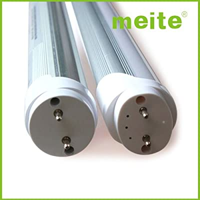 meite ® T8 LED Light Tube, 4ft, 18W, 3000K, 5000K (Daylight Glow®), Single-Ended Power, Clear 1 Line, UL-Listed & DLC-Qualified