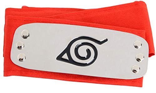 LACKINGONE Naruto Cosplay Headband Ninja Konoha Headband Red
