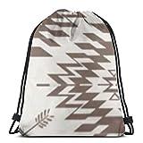 Yuanmeiju Native Roots Cream Brown Shoulder Bolsa con cordón Backpack String Bags School Rucksack Gym Sport Bag Lightweight