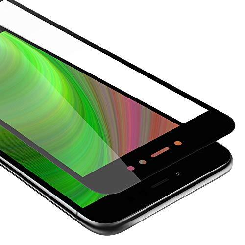 Cadorabo Película Protectora para Xiaomi RedMi Note 5A Prime en Transparente con Negro - Pantalla de Vidrio Templado Cobertura Completa (Tempered) Compatible 3D con Dureza 9H