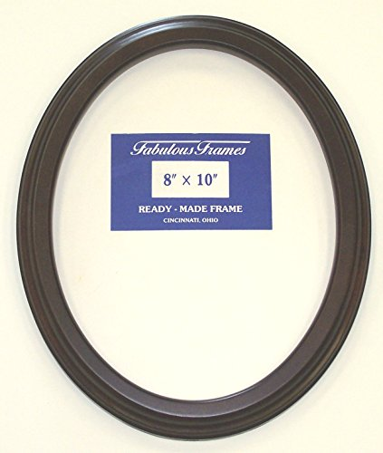 "Oval Mahogany Picture Frame 8""x10"" with Glass"