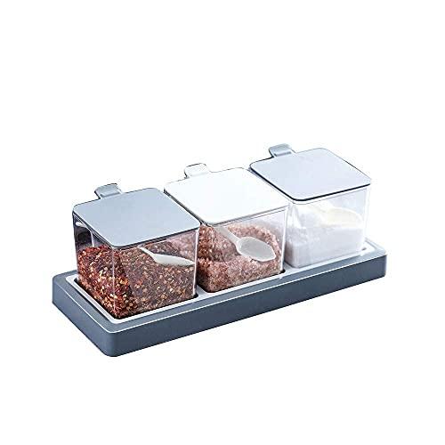 Spice opslag Seizoensgebieden Set Keukengerei Plastic Transparante Kruidendoos Set Huishoudelijke combinatiepakket…