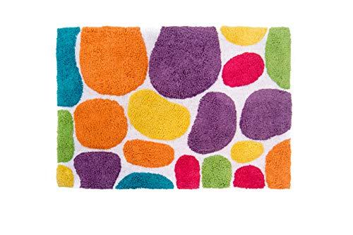 Chesapeake Pebbles Brights Multi Coloured Bath Runner 29400 (24
